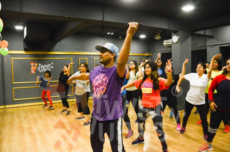 zumba session at dance classes at Salt Lake